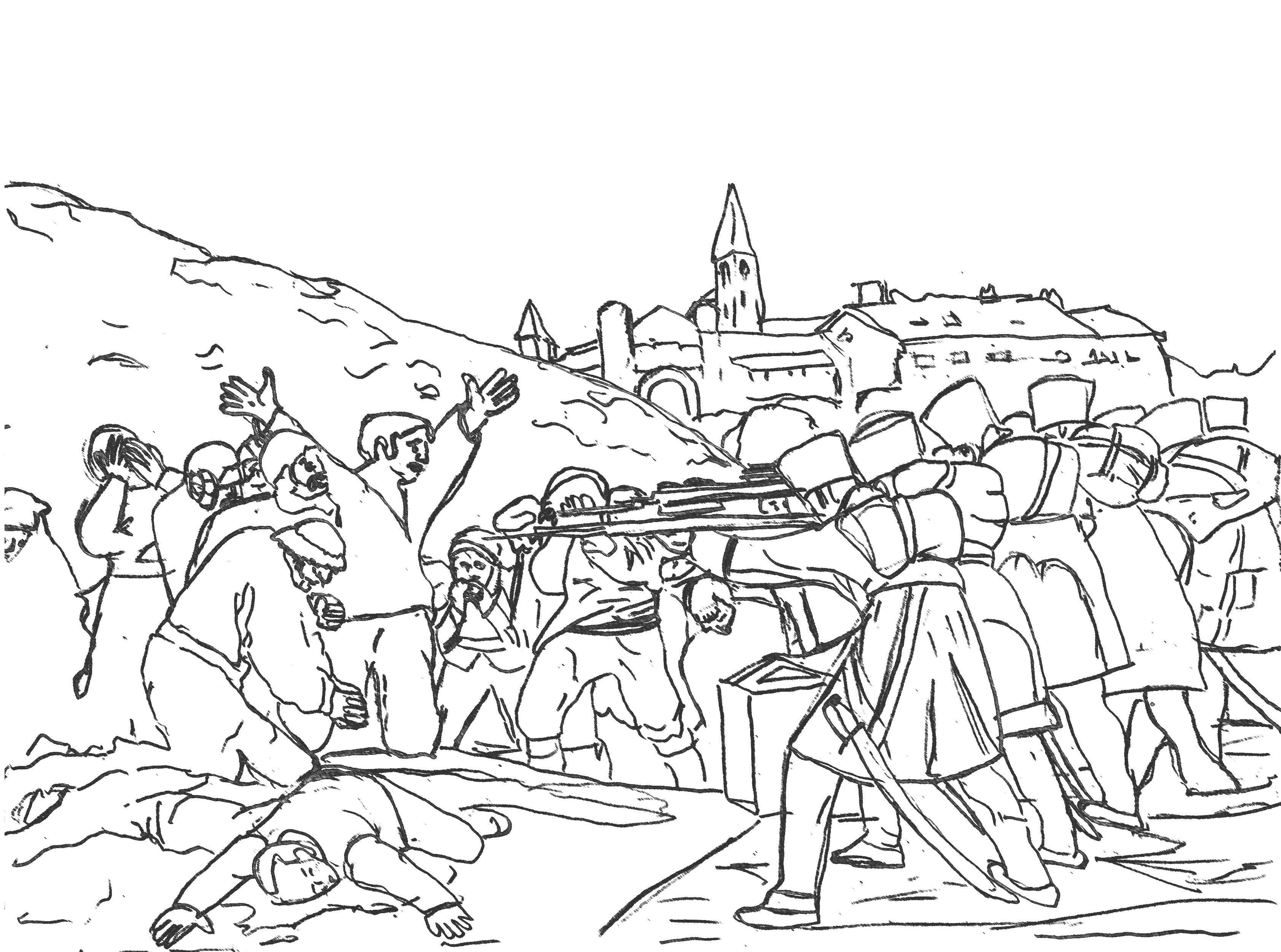 Fusilamientos Del 3 De Mayo Francisco De Goya Disegni Di Quadri
