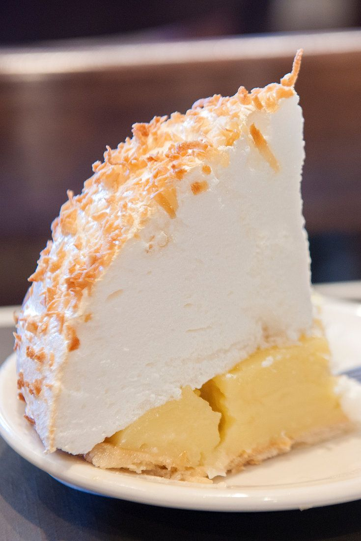 """Mile High"" coconut meringue pie, a signature item at the Crystal Grill in Greenwood, Miss. (Photo: Robert Rausch for The New York Times)"