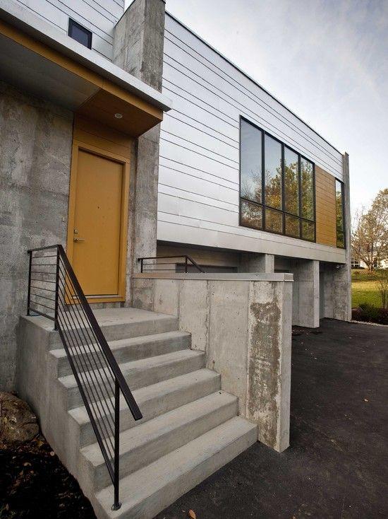 Zinc And Concrete Cladding Zinc Roof Roof Design Concrete Houses