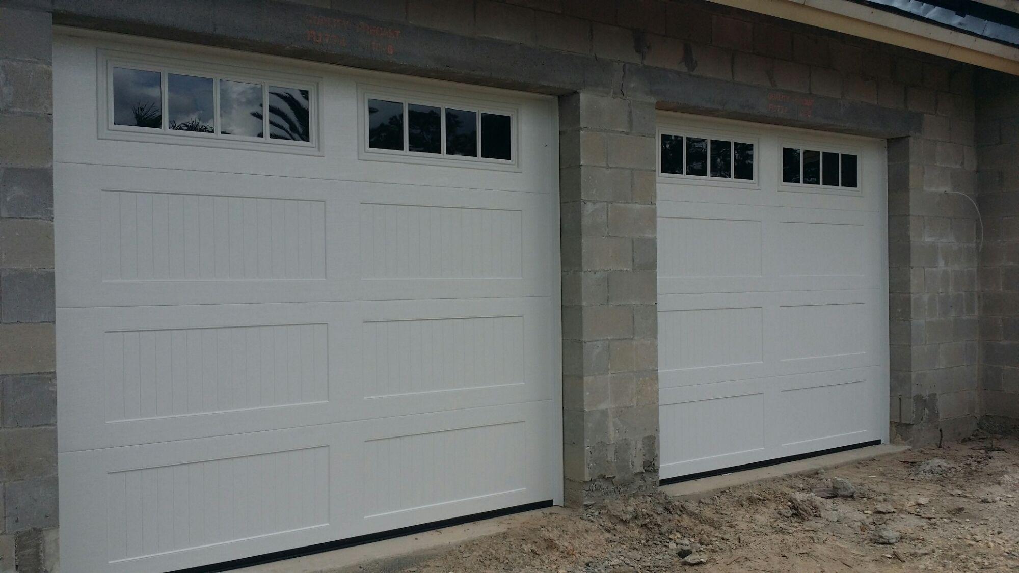 Long Panel Bead Board Garage Door Regarding House Home Pinterest
