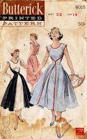 Vintage 50s Dress Pattern | Il tronco di COSTURERAS
