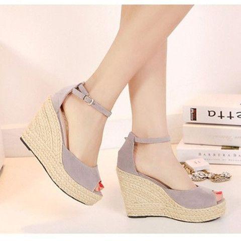 07e194caf4f5 Bohemian Wedge Women sandals Slipper high wedge open toe peep toe - Stylish  n Trendier - 2