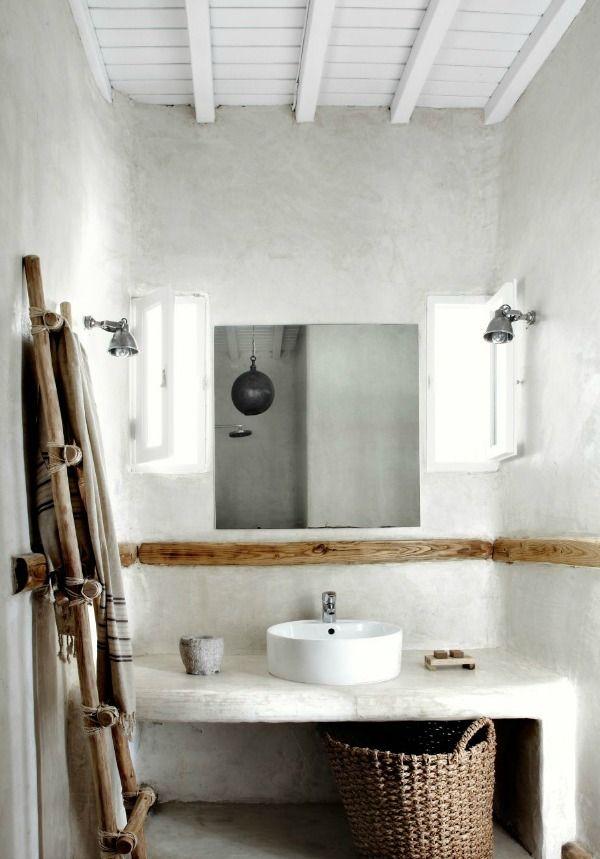 Landelijke badkamer, trapje badkamer - Landelijke badkamers ...