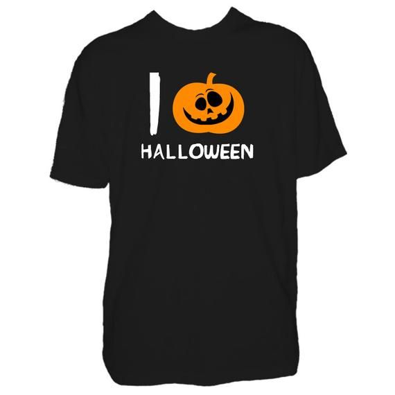 Mens I Love (Heart) Pumpkins Halloween T Shirt Funny Horror Party Tshirt Wear Night Out Easy Costume T-shirt - Man Gift Present Tee #easycostumesformen