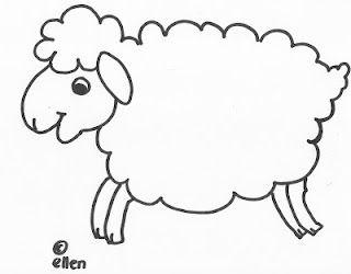 plaatje schaap voor watjes schapen knutselen schapen en