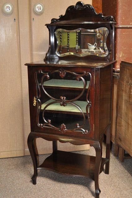 Item B20 Victorian Mahogany Music Display Cabinet C 1900 Home Decor