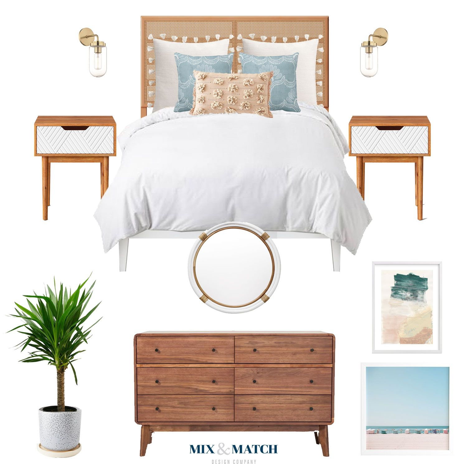 A Beachy, Laid Back Boho Inspired Bedroom Look From Mix &