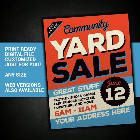 Yard Sale Garage Sale Tag Sale community sale by BowWowCreative | My ...
