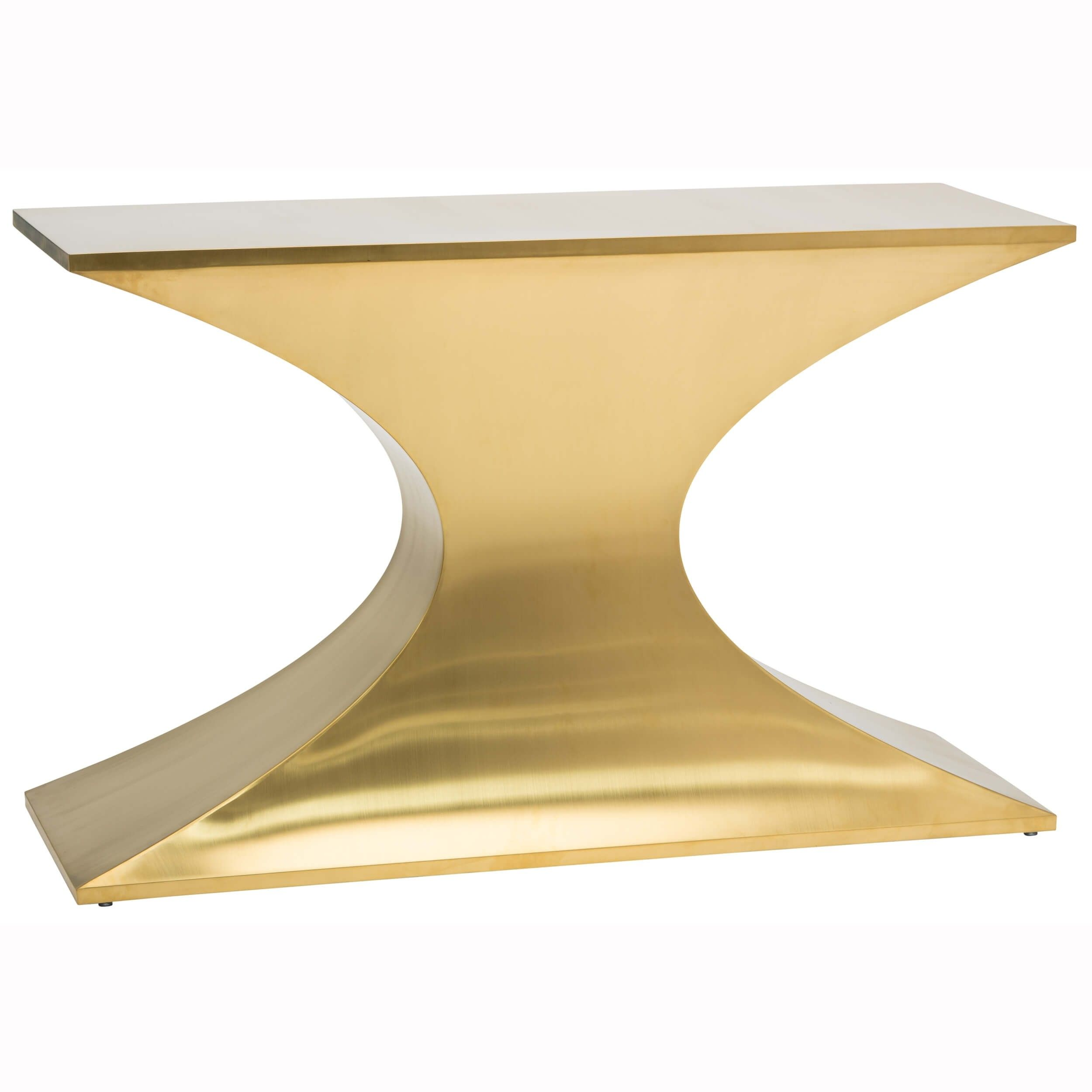 Praetorian Console Table Brushed Gold Console Table Brushed Gold Console