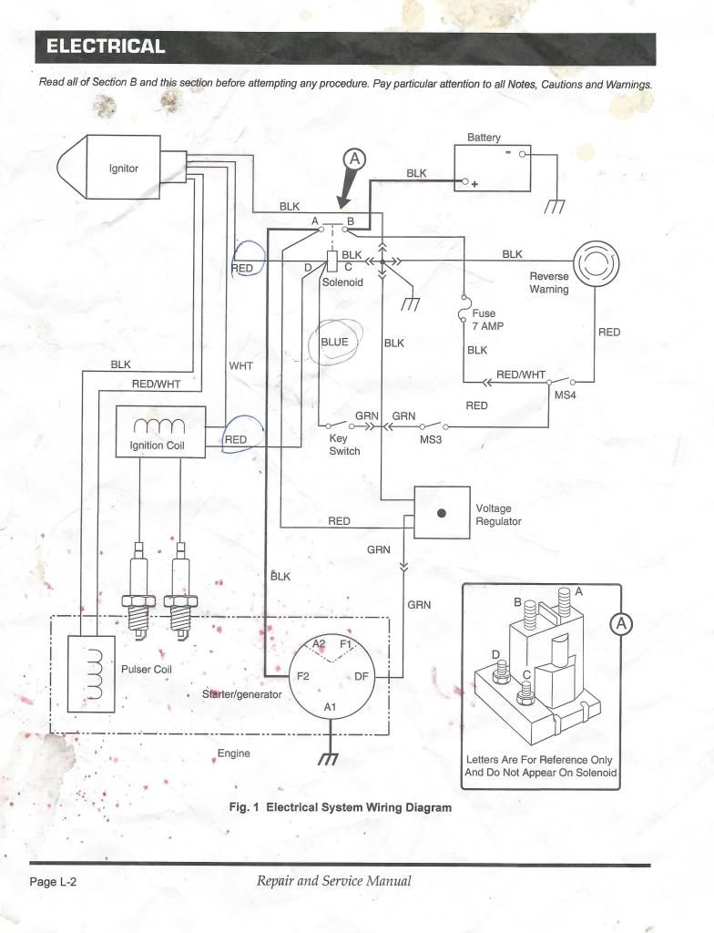 With A Golf Cart Gas Engine Ignition Wiring Diagram