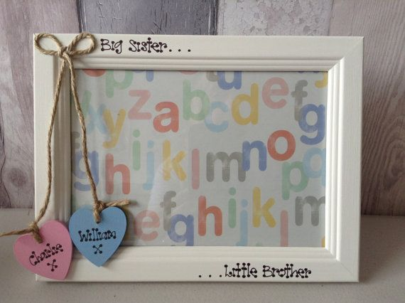 Photo Frame Personalised Big Sister Little Brother Big Brother ...