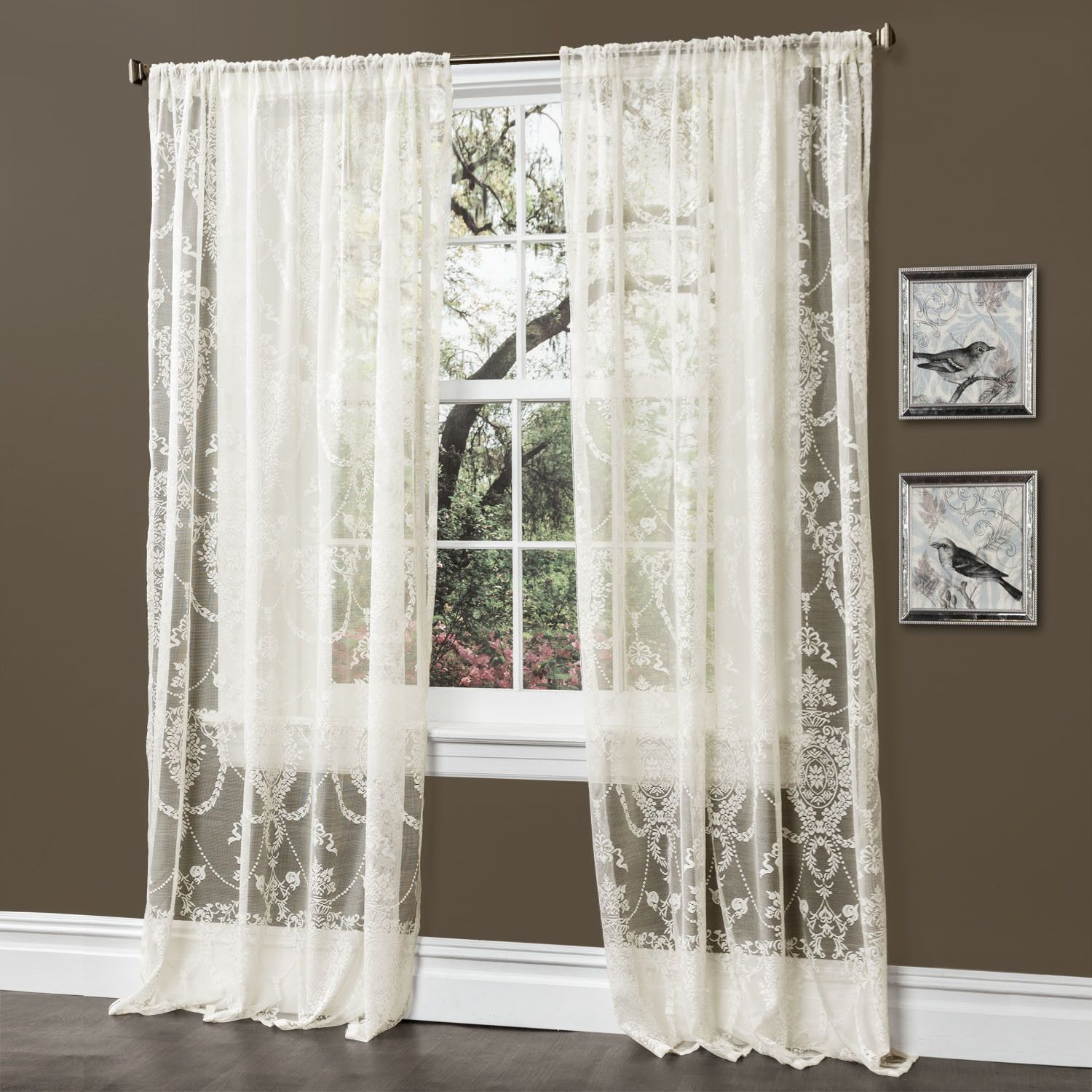 Anya Window Curtain Pair Soft Light Rod Pocket And Window Panels