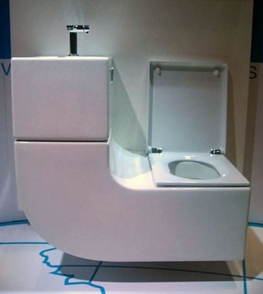 Sleek Sink Toilet Combo Is An All In One Greywater Recycling System Sink Toilet Combo Bathroom Solutions Toilets And Sinks