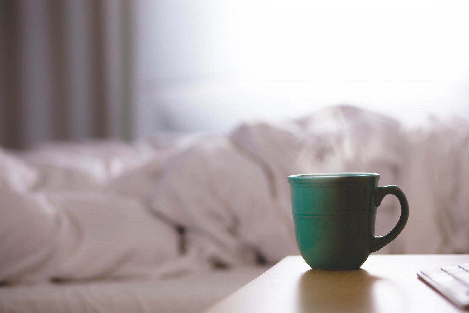 Mug on the bedside table