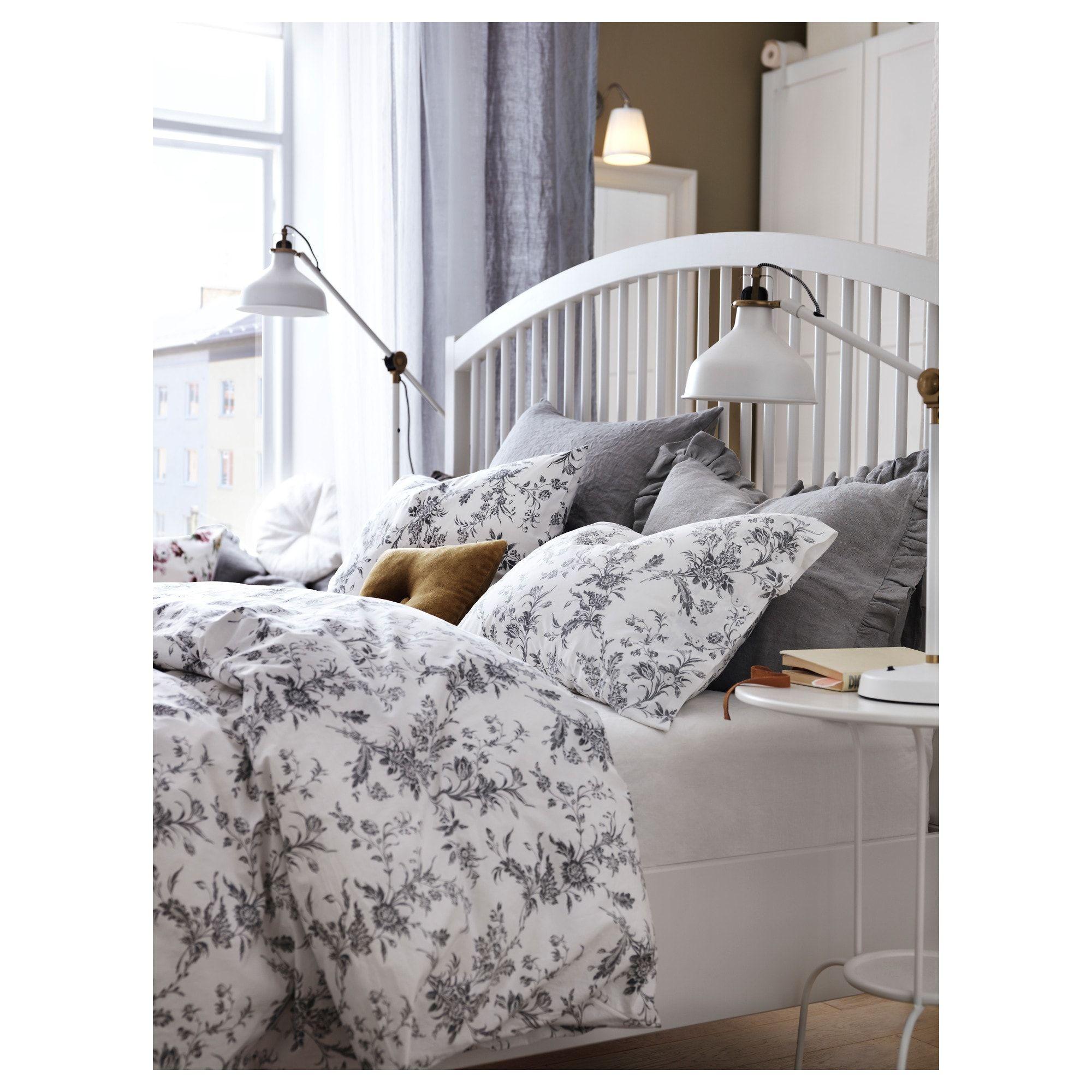 IKEA ALVINE KVIST White, Gray Duvet cover and pillowcase(s