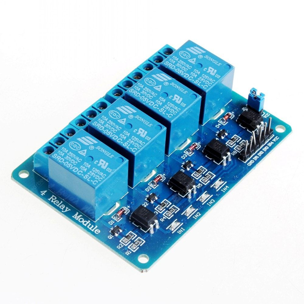 Buy 5v 4 Channel Relay Module For Arduino Pic Arm Dsp Avr Msp430