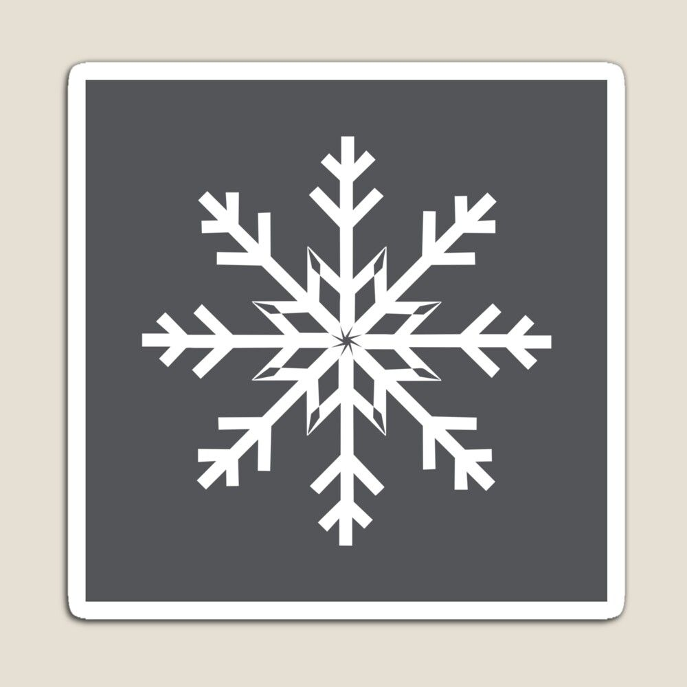 34++ Small white snowflake stickers trends