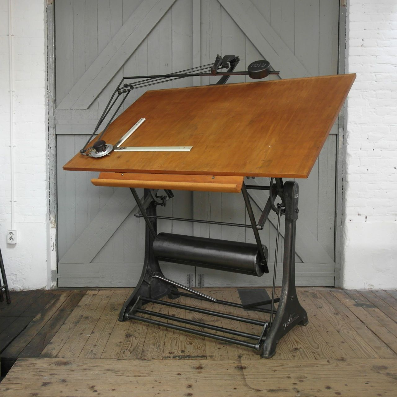 Industrial Drafting Table From Kuhlmann, 12