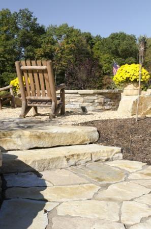 Champlain Stone, Landscape, Patios, Irregular Flagging, Cottage Wall Stone, Step Slab, South Bay Quartzite®