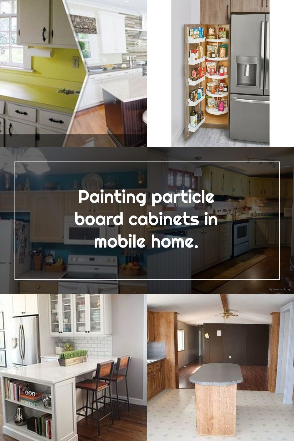 Painting Particle Board Cabinets In Mobile Home Hometalk In 2020 Mobile Home Kitchens Mobile Home Home