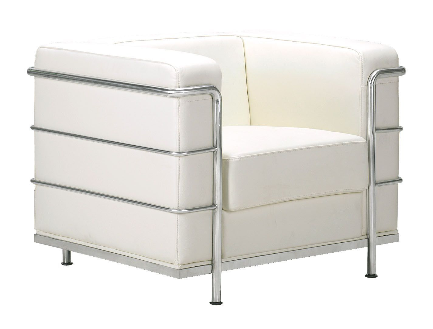 Divano Baxter Chester Moon Usato Fortress Armchair In White Leather Chrome Products Chair