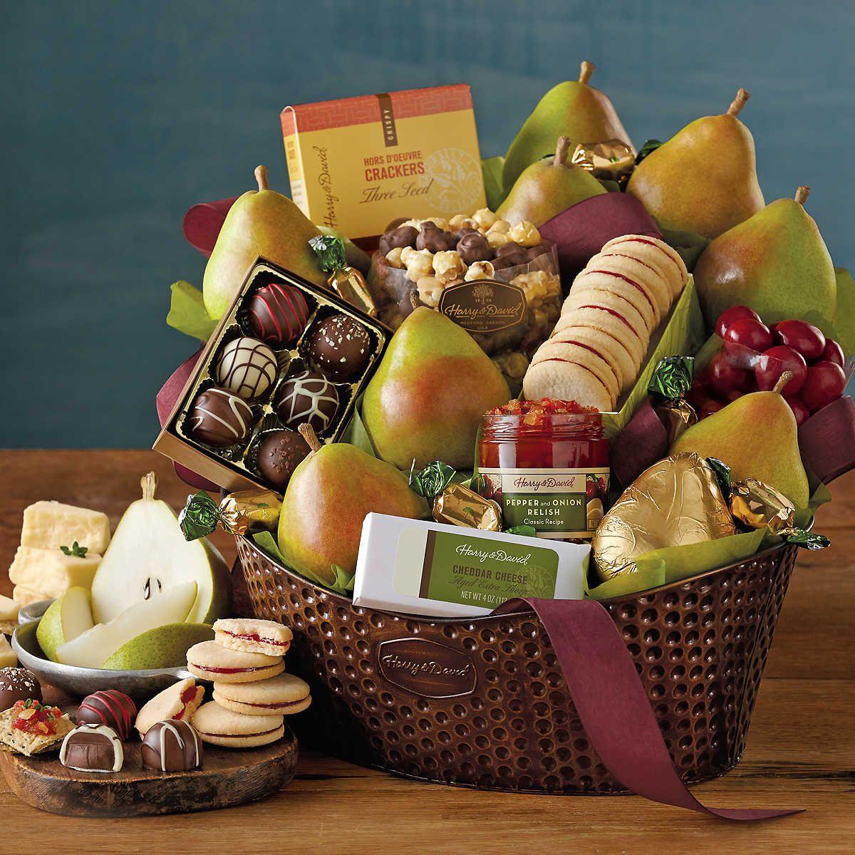 Deluxe Favorites Gift Basket Food gift baskets, Food