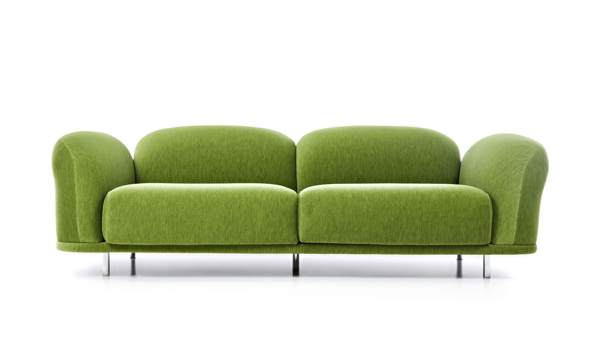 Moooi Cloud Sofa Velour Moosgrun Product Design Sofa Kissen Und