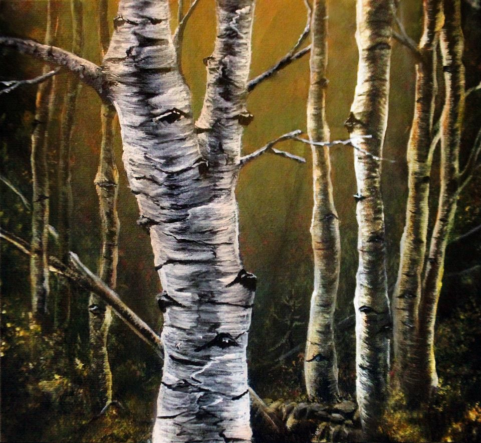 Le tronc d un arbre n est pas toujours vident peindre - Tronc de bouleau ...