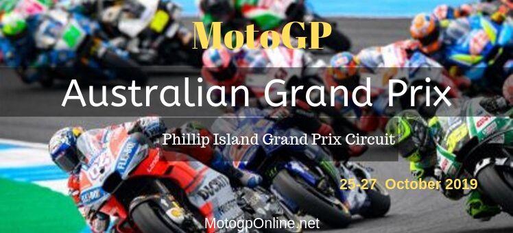 MotoGP Australian GP Live Streaming 2019 Full Race