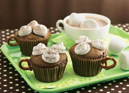 Hot chocolate cupcakes. Yum!!