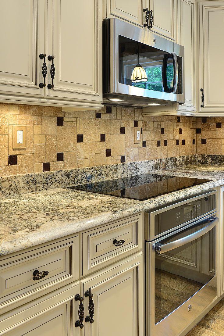 Travertine Tile Dark Brown Glass Backsplash Tile Ideas Beige