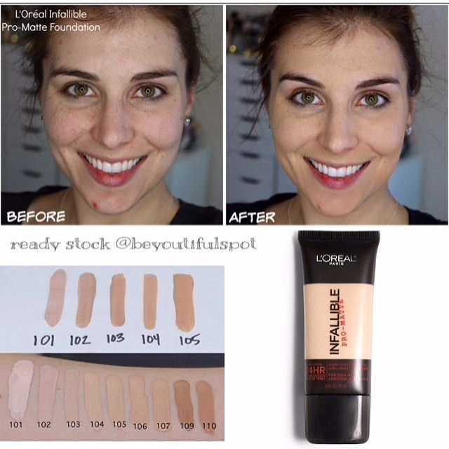 various colors for whole family cheapest price READY STOCK LOREAL Infallible Pro-Matte Up to 24hr Demi ...