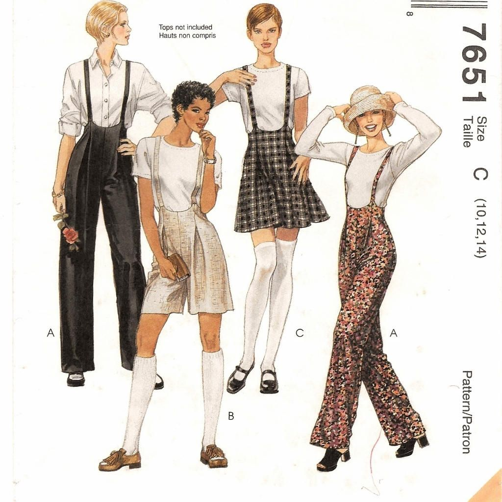 A Jumpsuit-Style Suspender Pants, Shorts/Romper and Skirt Sewing ...