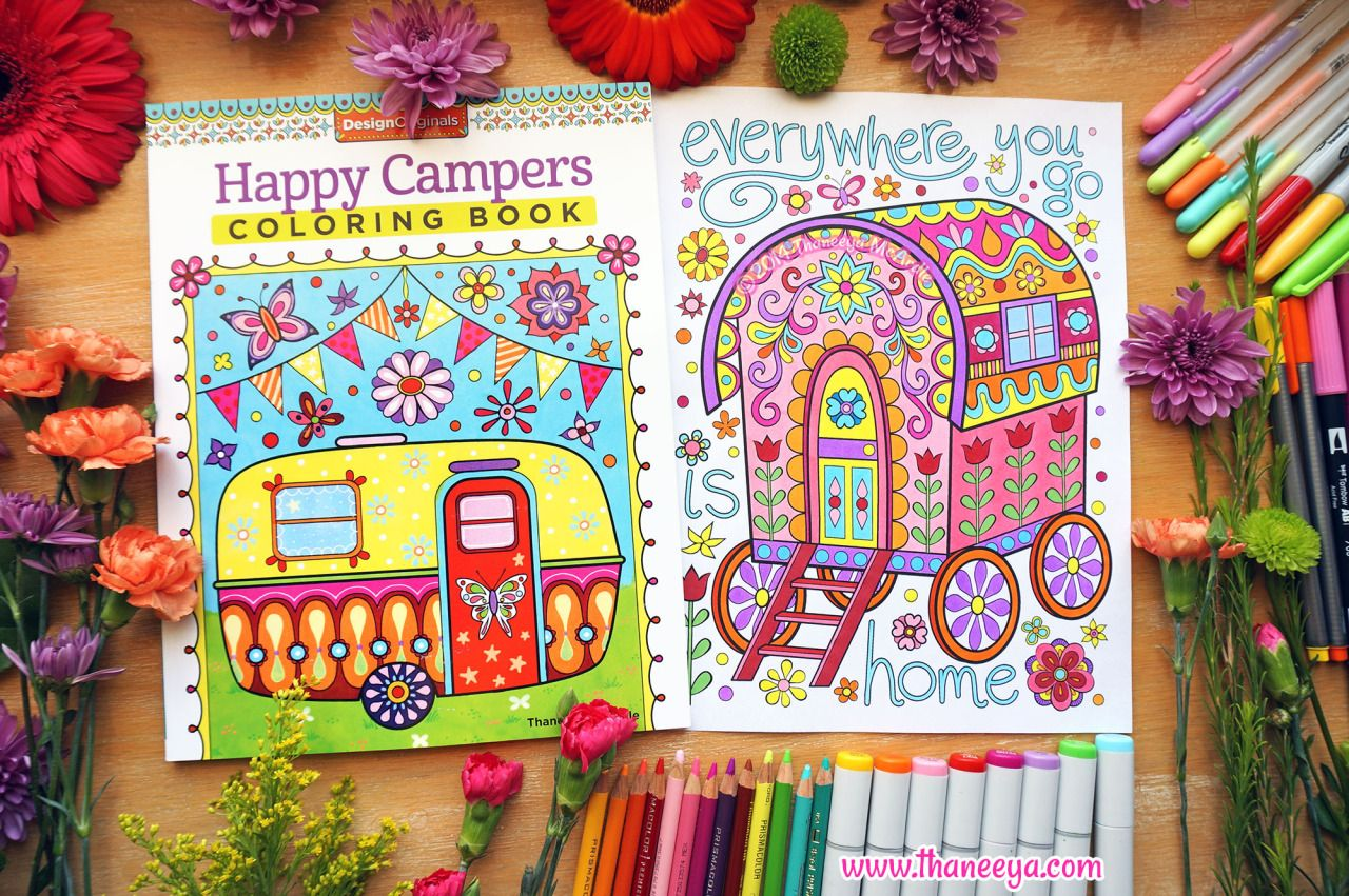 Gypsy Caravan Coloring Page From Thaneeya McArdles Happy Campers Book