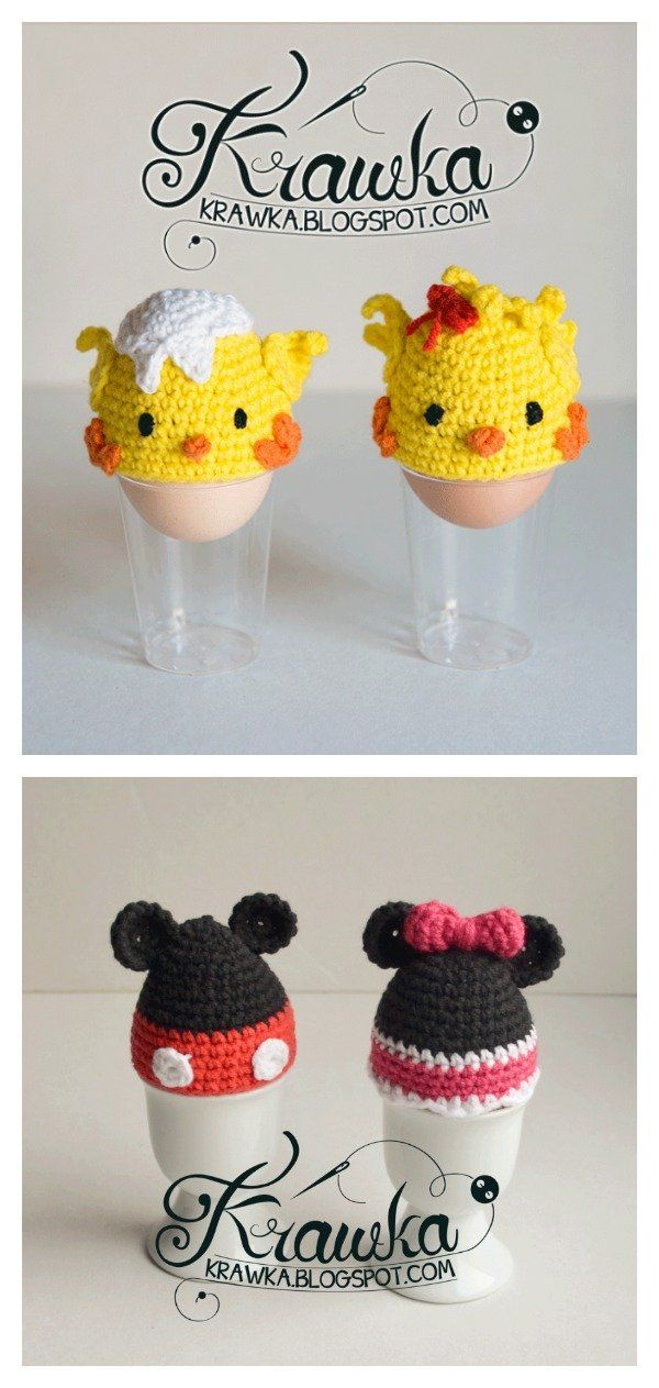 Crochet Easter Egg Cozy Free Patterns #eastercrochetpatterns