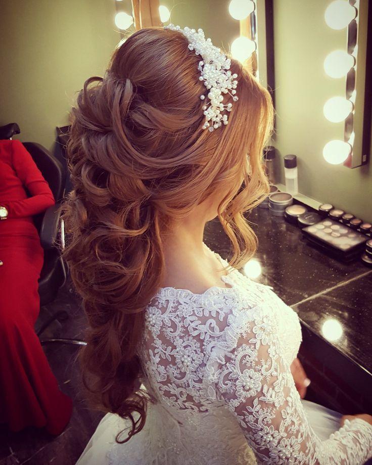 Dogal Gelin Sac Ve Makyaj Modelleri Www Basakkuaforma Basakkuaforma Gelin Makyaj Mo Elegant Wedding Hair Natural Bridal Hair Bridal Hair Inspiration