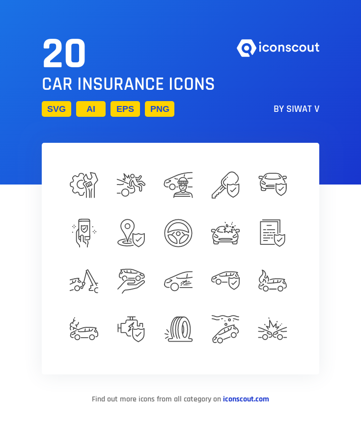 Download Car Insurance Icon Pack Available In Svg Png Eps Ai Icon Fonts Icon Pack Car Insurance Icon