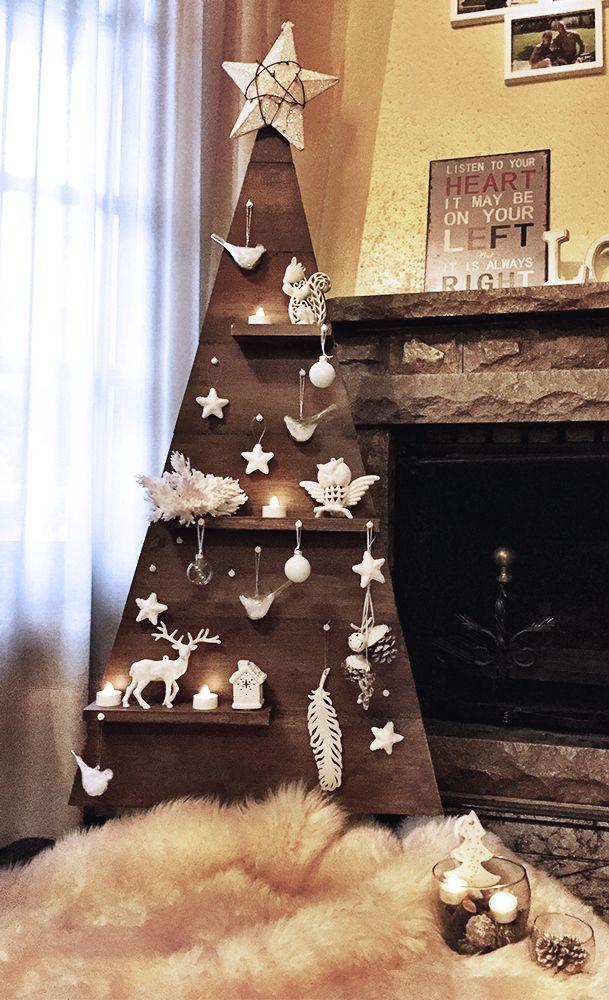 haz tu propio rbol de navidad de madera nv navidad pinterest weihnachten weihnachtsbaum. Black Bedroom Furniture Sets. Home Design Ideas