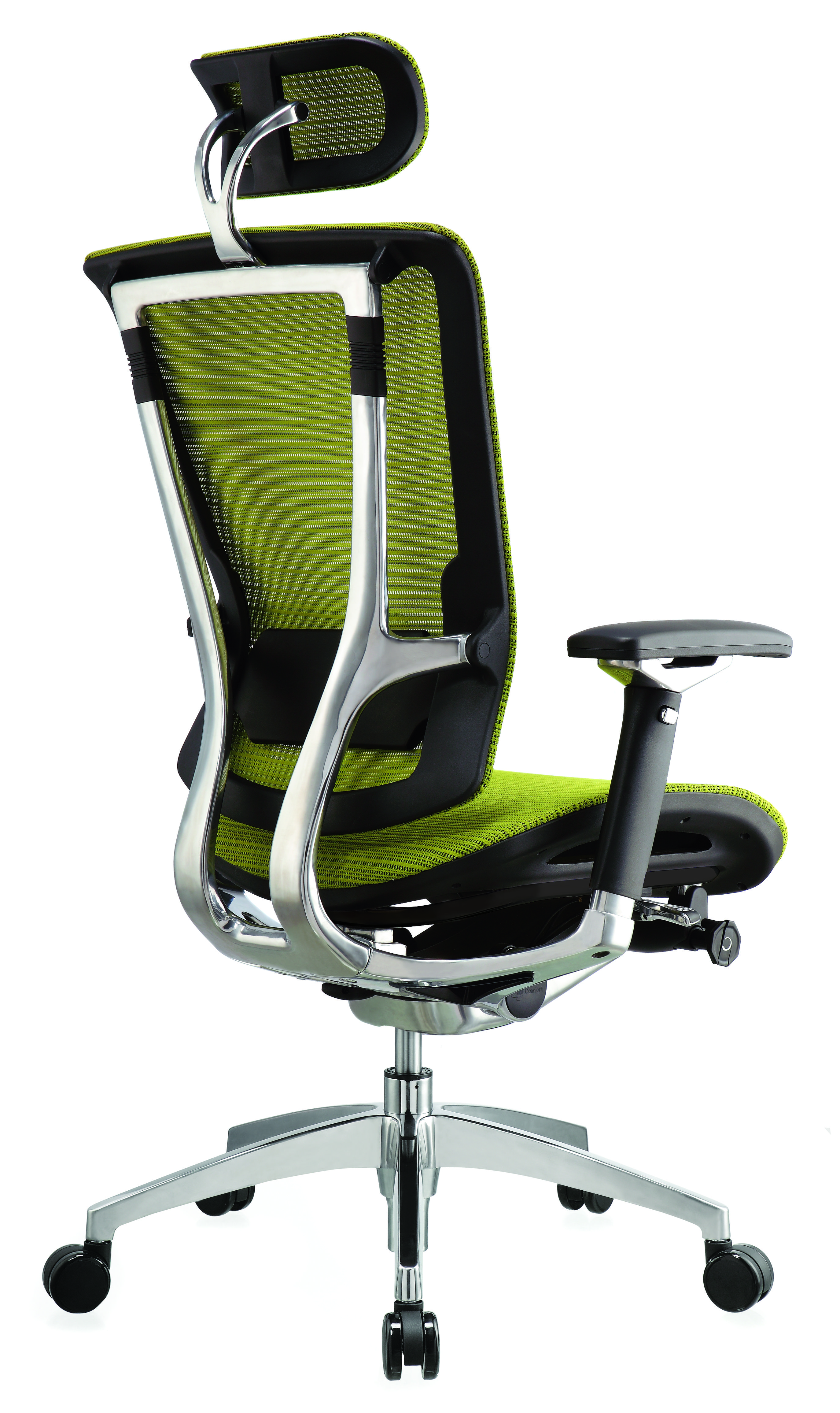 Exquisite Desk Chairs Uk Office Design With Headrest Fabric Green