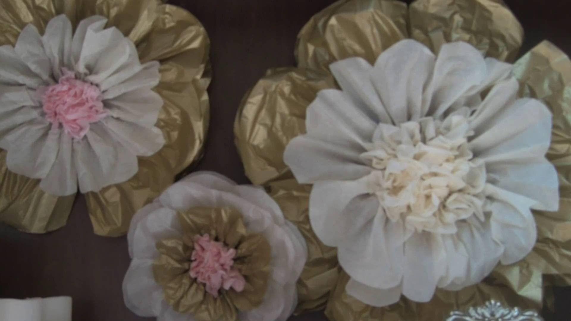 Tissue Paper Flowers Youtube Flowers Pinterest Tissue Paper