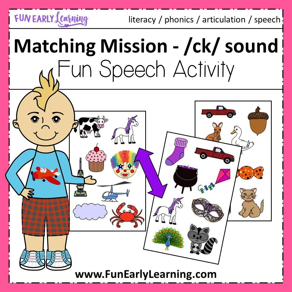 Matching Mission Ck Sound Articulation Game