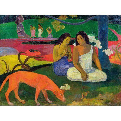 Photo of Leinwandbild Arearea von Paul Gauguin Rosalind Wheeler Größe: 70 cm H x 100 cm B x 4 cm T