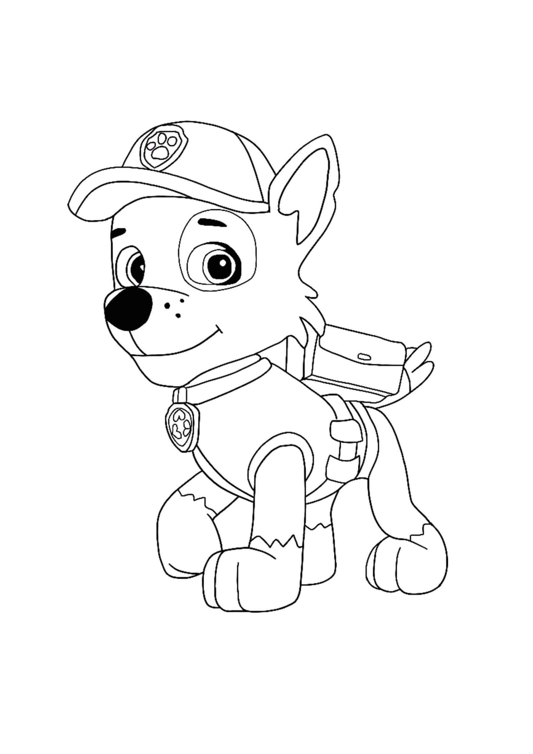 Paw Patrol Rocky Coloring Page Paw Patrol Coloring Paw Patrol Coloring Pages Paw Patrol Rocky