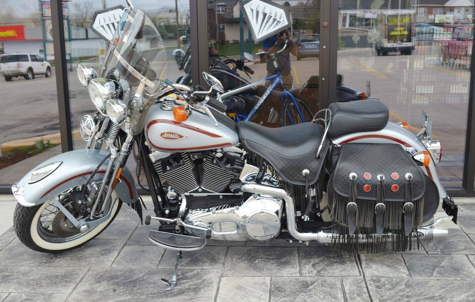 Harley Davidson Softail 2000 Harley Heritage Springer Soft Tail With Lmt Ed Diamond Ice Paint [ 1017 x 1600 Pixel ]