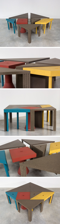 Massimo Morozzi Design.Massimo Morozzi Tangram 300 Modular Dinning Table Cassina