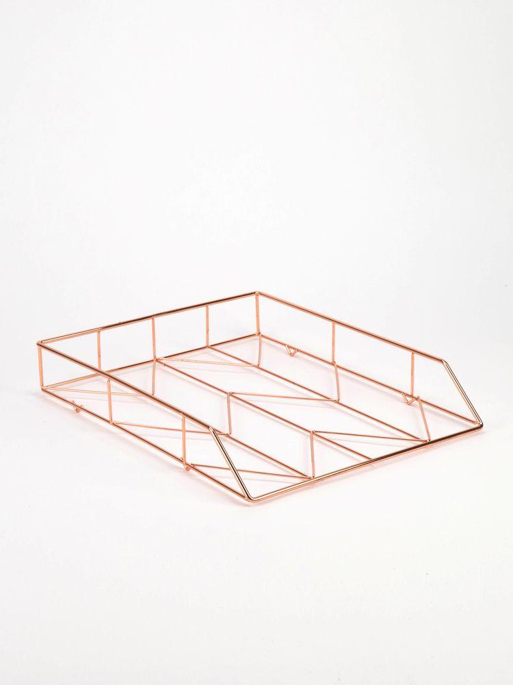 U Brands Copper Wire Letter Tray Office Ideas Letter