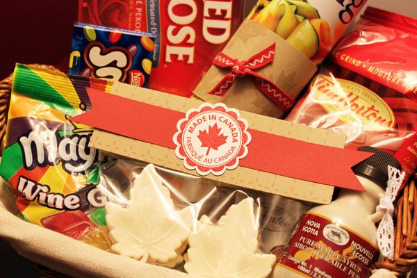 Canadian Themed Care Package Canadian Gifts Gift Baskets Canada