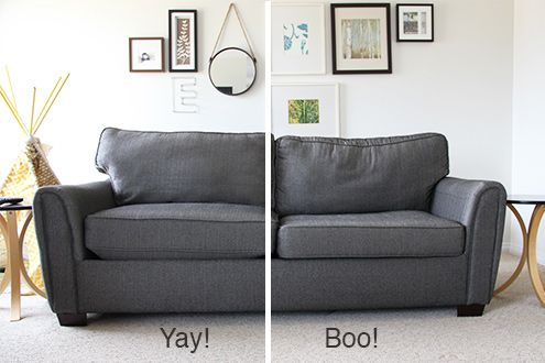 How To Stuff Your Sofa Cushions And Give Them New Life Cushions On Sofa Old Sofa Furniture
