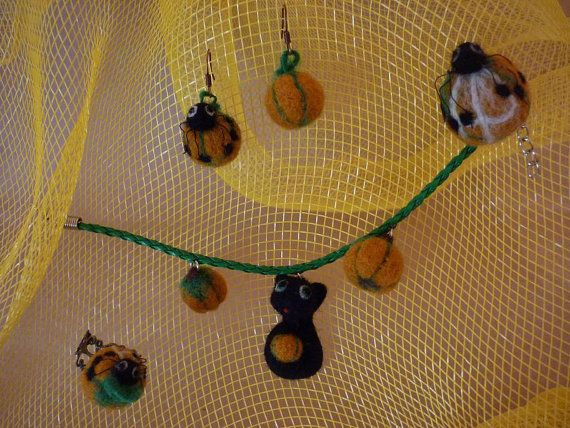 BIG SALE! Pumpkin Needle Felted  Collection by OlessiaWoolPets