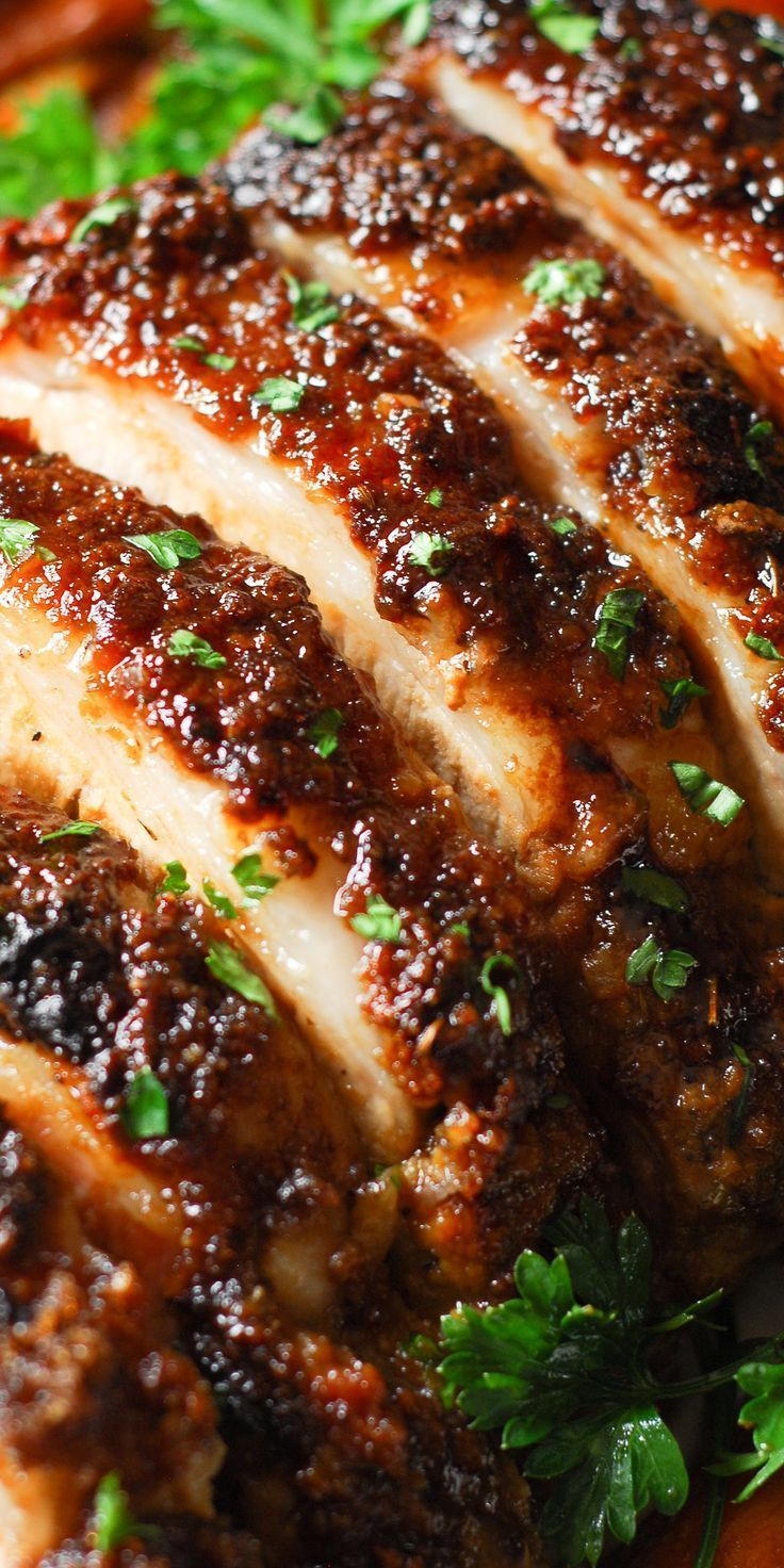 Brown Sugar Dijon Glazed Pork Loin #porktenderloinrecipes